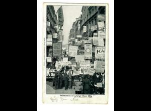 1907 Ansichtskarte Petersstraße zur Leipziger Messe nach Fribourg mit Taxe