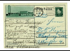 Ganzsache Mannheim/Ulm nach Würzburg 1930