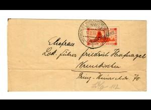 1933: Verwendet Wohlfahrtsbriefmarken Neunkirchen, Vormundschaftsbrief