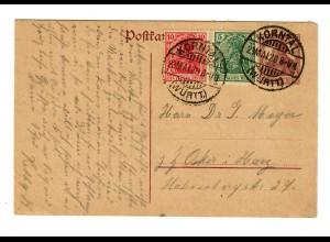 Ganzsache 1920 aus Korntal