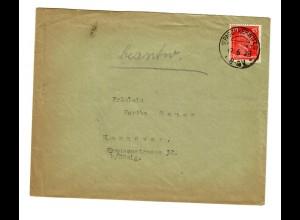 Brief 1928 Paschkerwitz/Trebnitz nach Hannover