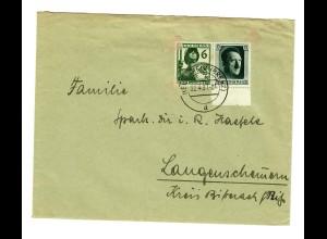 Brief 1937 Heidenheim/Brenz nach Langenschemern