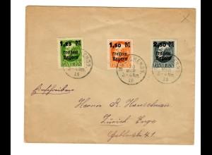 Brief München nach Zürich 1920