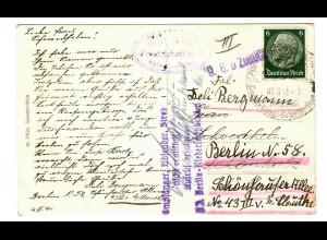 Ansichtskarte Spindelmühle 1941 nach Berlin, Empfänger nicht ermittelt