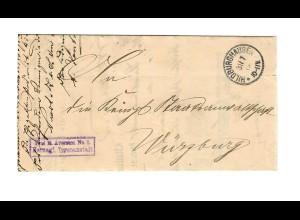 Frei Herzogl. Irrenanstalt Hildburghausen 1906 nach Würzburg