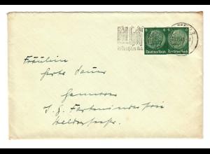 Ganzsachenausschnitte auf Brief Bielefeld 1941