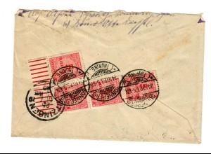 Einschreiben Sonneberg 1923 nach Kitzingen