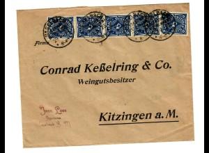 Haselbach 1923 an Weingutbesitzer in Kitzingen