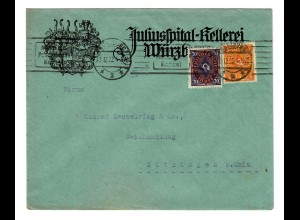 Juliusspital Kellerei Würzburg nach Kitzingen 1922