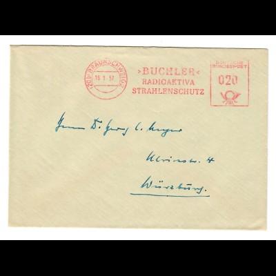 Baunschweig 1957 Strahlenschutz, Radioaktivia, Buchler nach Würzburg