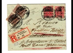 Einschreiben Flechtingen/Gardelegen 1921 nach Elgershausen