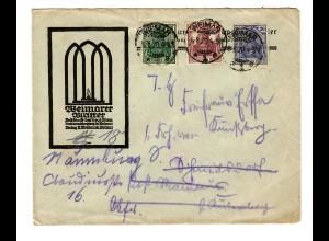 Weimar 1920 Brief der Weimarer Blätter