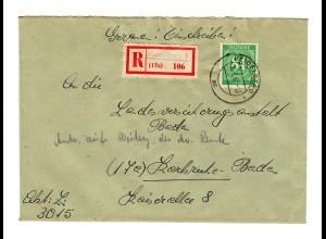 Einschreiben Heidelberg 1947 nach Karlsruhe
