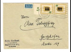 MeF Staffelbach nach Gerolzhofen 1955, Maschinenhalbstempel