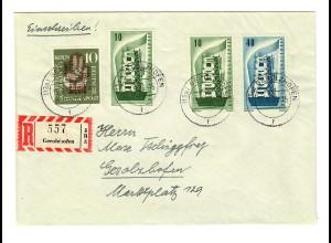 Einschreiben Gerolzhofen 1956