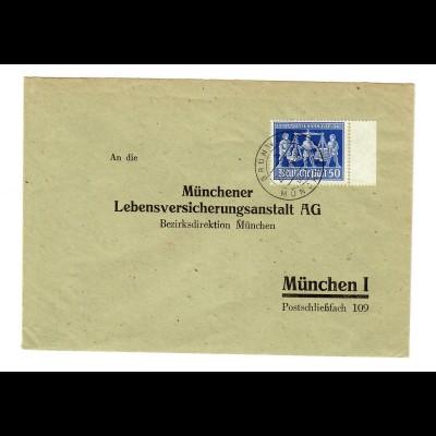 Brief aus Grünwald nach München 1948