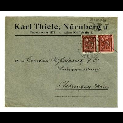 Nürnberg 1922 nach Kitzingen