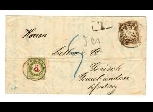 1907: München nach Graubünden, Nachgebühr Grüsch
