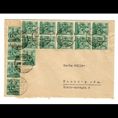 1948: Massenfrankatur Karlsruhe nach Hamburg