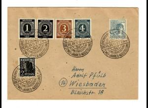 1947: Sonderstempel Berlin US-Militärregierung, 2-Jahres Ausstellung