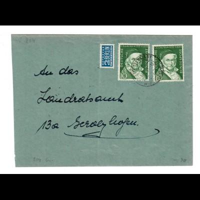 Brief mit MeF von Prichsenstadt nach Gerolzhofen
