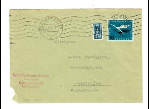 Brief mit aus Unterspiesheim/Schweinfurt nach Gerolzhofen 5.5.55
