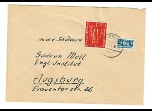 Brief 1956 von Stotzard-P. Aindling nach Augsburg