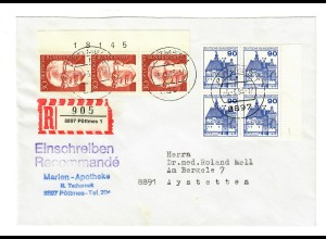 Einschreiben Pöttmes nach Aystetten 1993