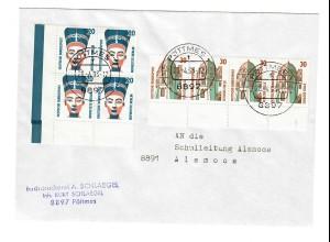 Brief aus Pöttmes nach Alsmoos 1993, rücks. Vignette 44. Sudetendeutscher Tag