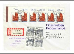 1993 Einschreiben Pöttmes nach Aystetten