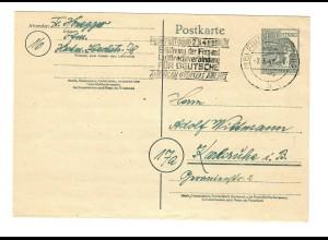 Ganzsache Frankfurt/Main 1948, Werbestempel Flug- und Luftfrachtverbindung