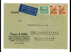 Luftpost Berlin 1949 nach Schnaittach/Nürnberg