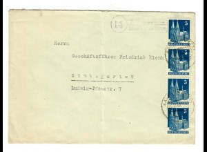 1948: Landpost Rodamsdörfle über Aalen nach Stuttgart