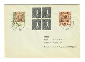 Brief 1959 von Stuttgart nach Fellbach