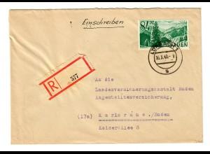 Einschreiben aus Lörrach 1948 nach Karlsruhe