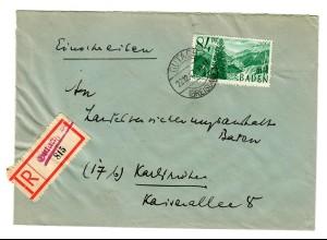 Einschreiben aus Gutach 1947 nach Karlsruhe