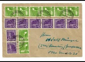 Brief aus Hamburg-Gross Flottbek (Othmarschen) 1948