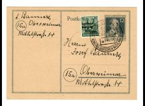 Ganzsache Weimar mit Sonderstempel Eröffnung Nationaltheater 1948