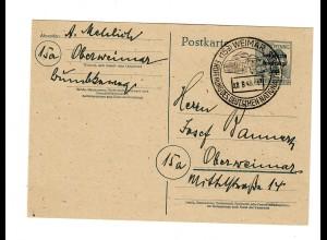 Ganzsache Weimar mit Sonderstempel Eröffnung Nationaltheater 28.8.1948