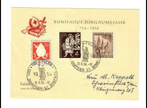 Bonifatius Jubiläumsjahr 1954 Fulda, Sonderstempel
