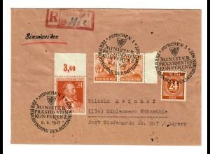 Einschreiben München, Ministerpräsidenten Konferenz 1947 nach Karlsruhe