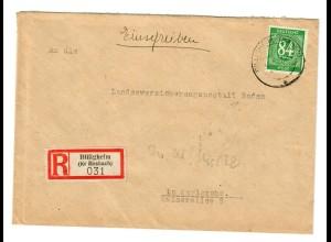 Einschreiben Billigheim / Waldmühlbach 1947 nach Karlsruhe