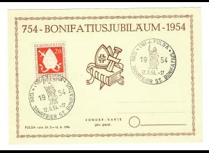 St. Bonifatius Jubiläumsjahr 1954 Fulda, Sonderstempel