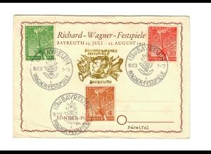 Sonderkarte Bayreuth 1952: Wagner Festspiele, Parsifal