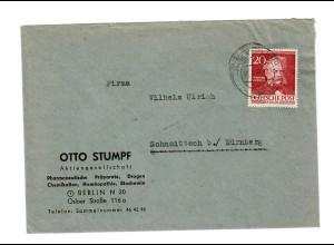 Brief aus Berlin 1953 nach Schaittach/Nürnberg