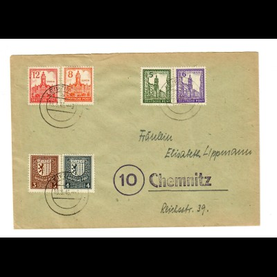 SBZ 1946, Leipzig nach Chemnitz, BPP Signatur