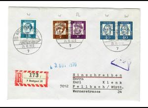 Einschreiben Stuttgart 1970 nach Fellbach