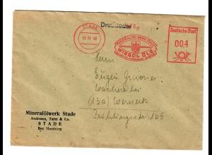 1949: Freistempel Stade, Mineralölwerk nach Werneck