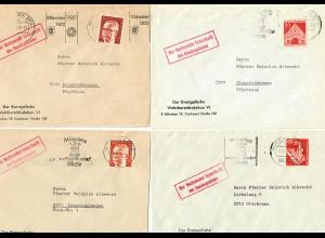 7x Briefe mit Stempel: Nur Nachsenden innerhalb des Bundesgebietes: München 1971