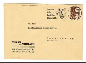 Brief aus Bielefeld, Verkehrsausstellung München 1953